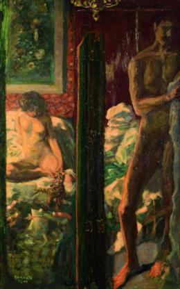 Die sonnige Terrasse, 1939-46 Öl auf Leinwand, 71 x 236 cm Privatbesitz