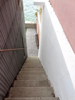 Der Aufstieg zur grasbewachsenen Dachterrasse (© MPS)