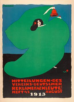 Emil Pirchan: Coverdesign für die Zeitschrift Mitteilungen des Vereins Deutscher Reklamefachleute, 1913 / Heft 43; © Sammlung Steffan / Pabst. Foto: Sammlung Steffan / Pabst