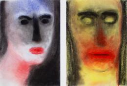 Miriam Cahn: frau + mann oder umgekehrt, 13.12.1995, 1995. Courtesy des Künstlers und Galerie Meyer Riegger, Berlin/Karlsruhe