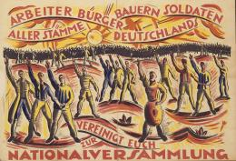 Überparteilicher Aufruf zur Wahl der Nationalversammlung 1919; Design César Klein. © VG Bild-Kunst, Bonn 2019