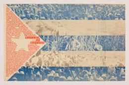 George Maciunas: Companeras and Companeros, 1970. Filmplakat Farboffset-Lithografie; Merrill C. Berman Collection, New York. Foto: Galerie Michael Hasenclever, München © George Maciunas Foundation / VG Bild- Kunst, Bonn 2019.