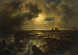 Christian Morgenstern (1805– 1867): Helgoland im Mondlicht, 1851. Öl auf Leinwand, 83,3 x 118,6 cm; © Hamburger Kunsthalle / bpk Foto: Christoph Irrgang
