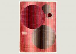 Takehiko Mizutani: Studie zum Simultankontrast aus dem Unterricht von Josef Albers, 1927. Deckfarbe auf Karton, 76.5 x 55.5 cm;© Bauhaus-Archiv Berlin. Foto: Markus Hawlik
