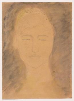 Jussuf Abbo, Weiblicher Kopf, 1923. Sprengel Museum Hannover; (c)  Angela Abbo, Brighton
