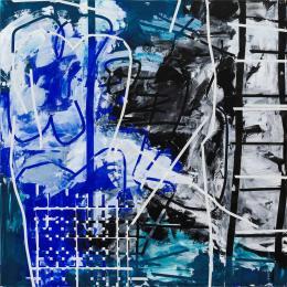 Heimo Zobernig, Ohne Titel, 2012, Acryl, Leinwand, 200 x 200 cm, Courtesy Galerie Meyer Kainer, Wien, Photo: Archiv Heimo Zobernig © Heimo Zobernig / Bildrecht, Wien 2021