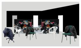 Alex Hanimann: turning inside out, 2019. Installation, verschiedene Materialien, Masse variable; Galerie Skopia Genève, Hengesbach Gallery Wuppertal, Pro Litteris Zurich