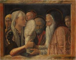 Andrea Mantegna: Die Darbringung Christi im Tempel, ca. 1453. Leinwand, 77,1 x 94,4 cm; © Staatliche Museen zu Berlin, Gemäldegalerie / Christoph Schmidt
