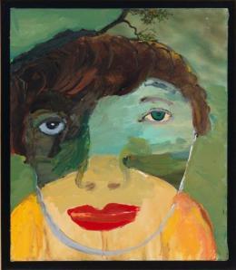 Margot Bergman: Lee, 2001, Acryl auf Leinwand, 40 x 35 cm; Privatsammlung San Francisco (Ausschnitt). (c) Margot Bergman