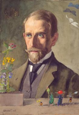 Kreidolf, Ernst (09.02.1863 - 12.08.1956) Selbstbildnis, 1916 Aquarell auf Papier 25,5 x 18,0 cm Kunstmuseum Bern, Verein Ernst Kreidolf Inv.-Nr. F I/11 Obj.-Id. 16150