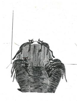 Cinzia Ruggeri: Vanity Gatti, 1995; Zeichnung