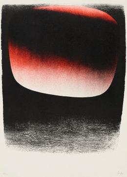 Rupprecht Geiger: ohne Titel, 1958. Siebdruck; Kunsthalle Bremen – Der Kunstverein in Bremen. © VG Bild-Kunst, Bonn 2019