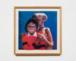 Michael and ET, 1985 by Mark Flood. Private Collection; Image courtesy of Maccarone, NY/LA. Stuart Shave/Modern Art, London.. © Mark Flood