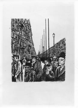 Arbeitslosendemonstration; Karl Holtz, Deutschland, 1920. © DHM