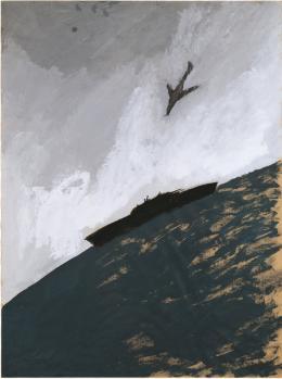 Leiko Ikemura: Kamikaze, 1980. Dispersion auf Papier, 120 x 90 cm; Christoph Schenker / © Pro Litteris, Zurich 2019