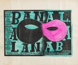 """Alexey Brodovitch, """"Bal Banal"""", Plakat, Lithografie, handkoloriert, 1924, Museum für Gestaltung Zürich, Plakatsammlung, © ZHdK"""