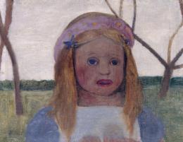 Paula Modersohn-Becker, Mädchen mit Blütenkranz im Haar, um 1901, © Staatliche Museen zu Berlin, Nationalgalerie / Jörg P. Anders