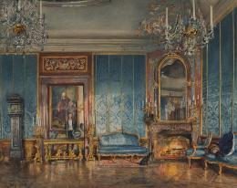 Rudolf von Alt: Der Blaue Salon in Schloss Feldsberg, 1845; © Liechtenstein. The Princely Collections, Vaduz–Vienna