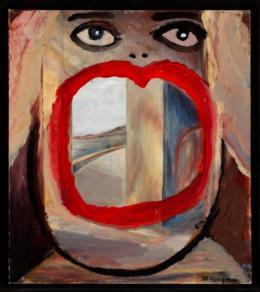 Margot Bergman: Gena, 2001. acrylic on cardboard, 40,6 x 35,6 cm. (c) Margot Bergman