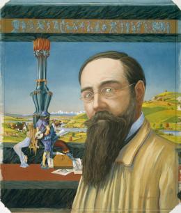 Eggimann, Hans (29.09.1872 - 29.05.1929) Selbstbildnis, 1920 Tempera auf Karton 44,8 x 37,2 cm Kunstmuseum Bern Geschenk von F. Pochon-Jent, Bern Inv.-Nr. A 9485 Obj.-Id. 26923