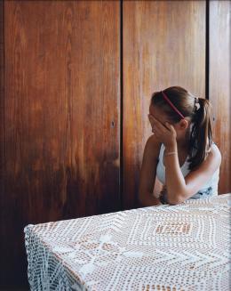 Sharon Lockhart: Milena, Jarosław 2013/2014, 2014. C-Print, Triptychon, je 128.8 x 103.5 cm, Detail; Kunstmuseum Luzern, Depositum der Best Art Collection Luzern