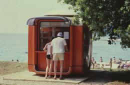 Kiosk K67, Croation coast, 1970er, Foto: Courtesy MAO, Museum für Architektur und Design, Ljubljana.