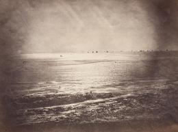 Gustave Le Gray: Vue de mer (Meerblick), 1856. Albuminpapier; Münchner Stadtmuseum, Sammlung Fotografie