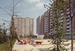 Siedlung Kranichstein Darmstadt; Ernst May, Neue Heimat Südwest, Stadtplanungsamt Darmstadt, Günther Grzimek (Landschaftsarchitektur) 1965–1968; © Hamburgisches Architekturarchiv
