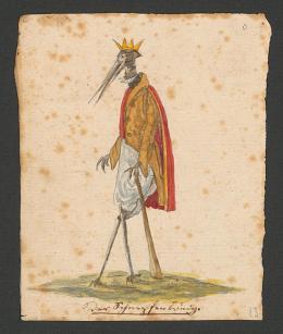 Gottfried Keller: Der Schnepfenkönig. Kinderzeichnung; Zentralbibliothek Zürich, e-manuscript