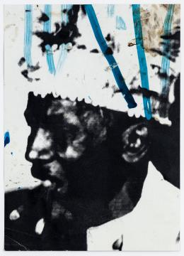 Walter Dahn: Black Beuys (shaman with cigar), 2008. Acryl auf Karton, 54,5 x 39 cm; Copyright Walter Dahn, Sprüh Magers