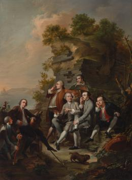 Knoller, Martin Gruppenporträt Karl Graf von Firmian mit Gefolge bei einem Ausflug in die Umgebung von Neapel, 1758 Öl auf Leinwand TLM, Ältere Kunstgeschichtliche Sammlungen Inv.-Nr. Gem/257  © TLM