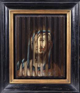Guido Reni Umkreis Jesus und Maria , Riefelbild 1. Hälfte 17. Jhd. Öl auf Holz 33 x 26 x 2,5 cm © Sammlung Werner Nekes