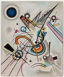Wassily Kandinsky: Diagonale, 1923. Öl auf Leinwand; Sprengel Museum Hannover, Leihgabe Niedersächsisches Landesmuseum Hannover. Schenkung Hermann Bode, Steinhude, 1971 (leigabe seit 1950)