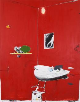 Brian Harte: NIGHT, 2017. Öl auf Leinwand, 110 x 165 cm; Schenkung aus Privatbesitz, 2018. © Brian Harte