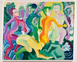 Paul Camenisch: Badende in der Breggiaschlucht, 1927. Öl auf Leinwand, 140.5 x 170.5 cm; Kunstmuseum Basel. Photo Credit: Julian Salinas