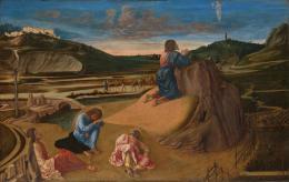 Giovanni Bellini: Christus am Ölberg, um 1465. Holz, 81,3 x 127 cm, erworben 1863; © The National Gallery, London