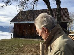 Rudolf Wäger bei einem seiner letzten Spaziergänge (© MPS)