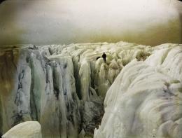 Der Schrecken der Arktis wird während der Expedition gekonnt in Szene gesetzt. © ETH Bibliothek, Bildarchiv