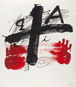 Antoni Tàpies: ohne Titel, 1974. Lithografie; Kunsthalle Bremen - Der Kunstverein in Bremen. © Comissió Tàpies / VG Bild-Kunst, Bonn 2019