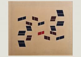 Hélio Oiticica: Metaesquema, 1957. Gouache auf Karton, 45.2 x 54 cm; Daros Latinamerica Collection, Zürich, © Peter Schälchli, Zürich