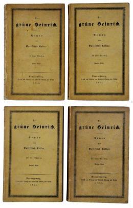 Gottfried Keller: Der grüne Heinrich; Ersterscheinung, Braunschweig 1854–1855