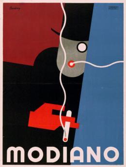"""Róbert Berény, """"Modiano"""", Plakat, Lithografie, Athenaeum Koloroffset, Budapest, 1927, Museum für Gestaltung Zürich, Plakatsammlung, © ZHdK"""
