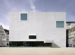 Cukrowicz Nachbaur Architekten, vorarlberg museum, Bregenz, 2007–2012, Eingangsfassade © Foto: Adolf Bereuter