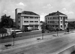 Geschäftshaus der Altdorfer Samenhandlung mit Versuchsgarten an der Fellenbergstrasse 276 in Albisrieden, erbaut 1933, das zugehörige Verkaufslokal befand sich an der Badenerstrasse, Fotografie Heinrich Wolf-Bender, 1934