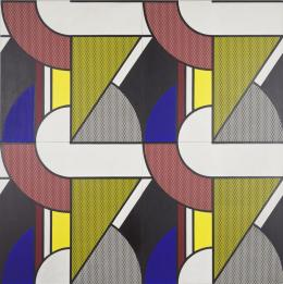"""Roy Lichtenstein, """"Modular Painting with Four Panels #2"""", 1969, Öl, Magna auf Leinwand, 244 x 244 cm, mumok - Museum moderner Kunst Stiftung Ludwig Wien, Leihgabe der Österreichischen Ludwig-Stiftung, seit 1981 © Estate of Roy Lichtentstein/Bildrecht, Wien 2020"""