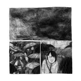 Franz Suess, Und Manu, 2018, Mischtechnik auf Papier © Franz Suess