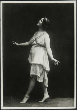 Isadora Duncan, o. J., Foto: Anonym,  Isadora Duncan, o. J., Foto: Anonym