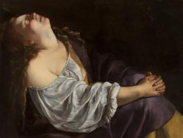 Artemisia Gentileschi (Rom 1593–um 1654 Neapel), Maria Magdalena in Ekstase, 1620/25 oder 1630/35, Leinwand, 81 × 105 cm, Privatsammlung © Foto: Dominique Provost