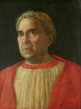 Andrea Mantegna: Bildnis des Kardinal Lodovico Trevisan, 1401-1465. Pappelholz, 45,5 x 34,8 cm; © Staatliche Museen zu Berlin, Gemäldegalerie / Christoph Schmidt