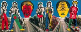 Gilbert & George: ROADS, 1991. Fotoarbeit, 27teilig, mit Dye-Colour Fotofarben coloriert, je 71 x 84,5 cm; Gesamtmaß 253 x 639 cm. © Gilbert & George, Foto: Helge Mundt